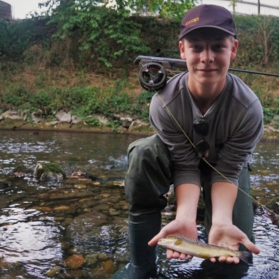 Andy with his large trout