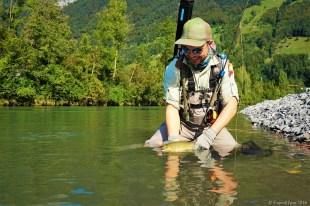 Smith Creek Rod Clip improves fish handling