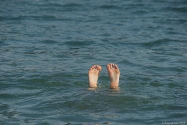Swimming in a lake close to Bozen