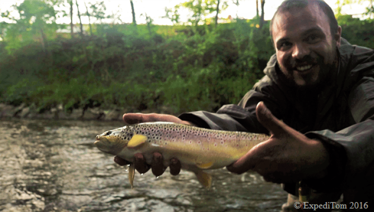 Profen that not only small trout like the Copper Tom Nymph - largest trout in the trout season 2016