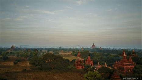 Pagodas in the first light of the day