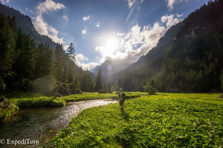 Fly fishing the canton Glarus in one of its gorgeous high plateau