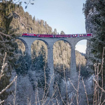Photographing the Landwasser Viaduct in Switzerland