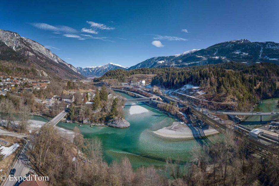Plan B: The confluence of the Hinter- and Vorderrhein looks as if it was in Slovenia.