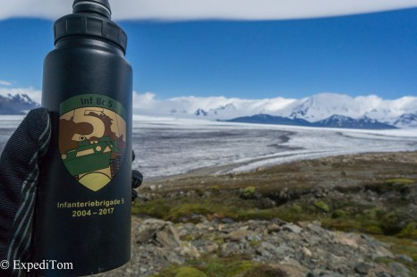 Paso del Viento Huemul Trek 2018 Southern Patagonian Icefield Campo de Hielo Sur Military Bottle Argentina