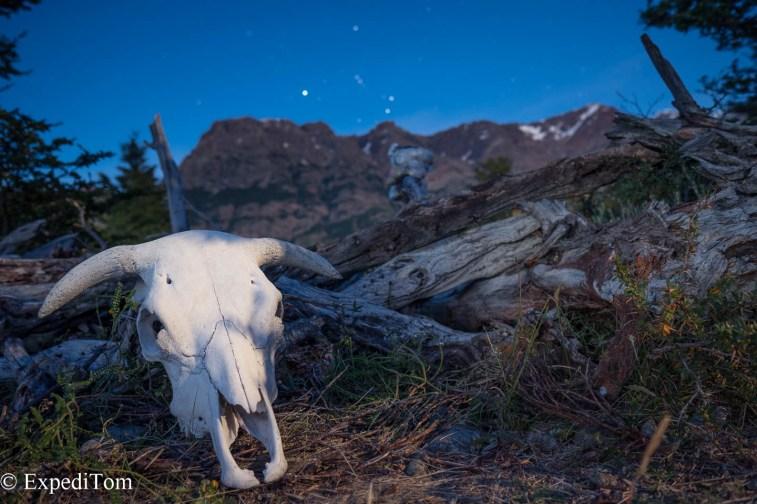 Views in the morning skull bull trekking Argentina Huemul Trek 2018 Camping Trekking Hiking