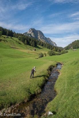 Golf course Swiss alps