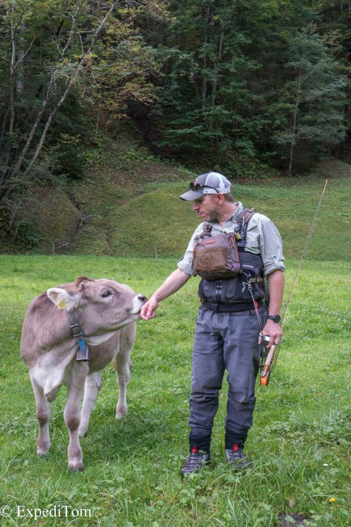 Made new friends in the Swiss Alps Canton Glarus