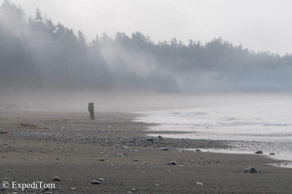 Mystique mist along the West Coast Trail (WCT) near Monique's famous restaurant which was closed