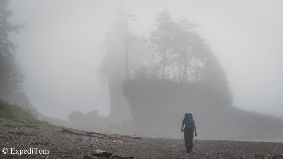 Mystic fog along the West Coast Trail on Day 1 and 2
