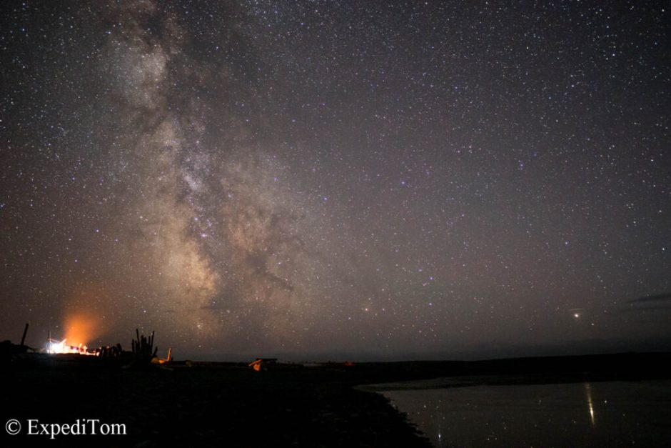 One shot of the timelapse I took during the previous night at Camp Walbrun (Seagull toilet)