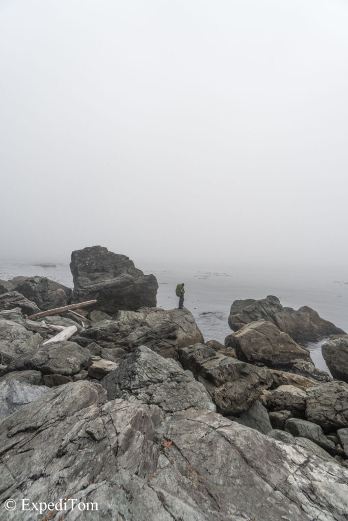 Mystic fog returned immediately on the West Coast Trail