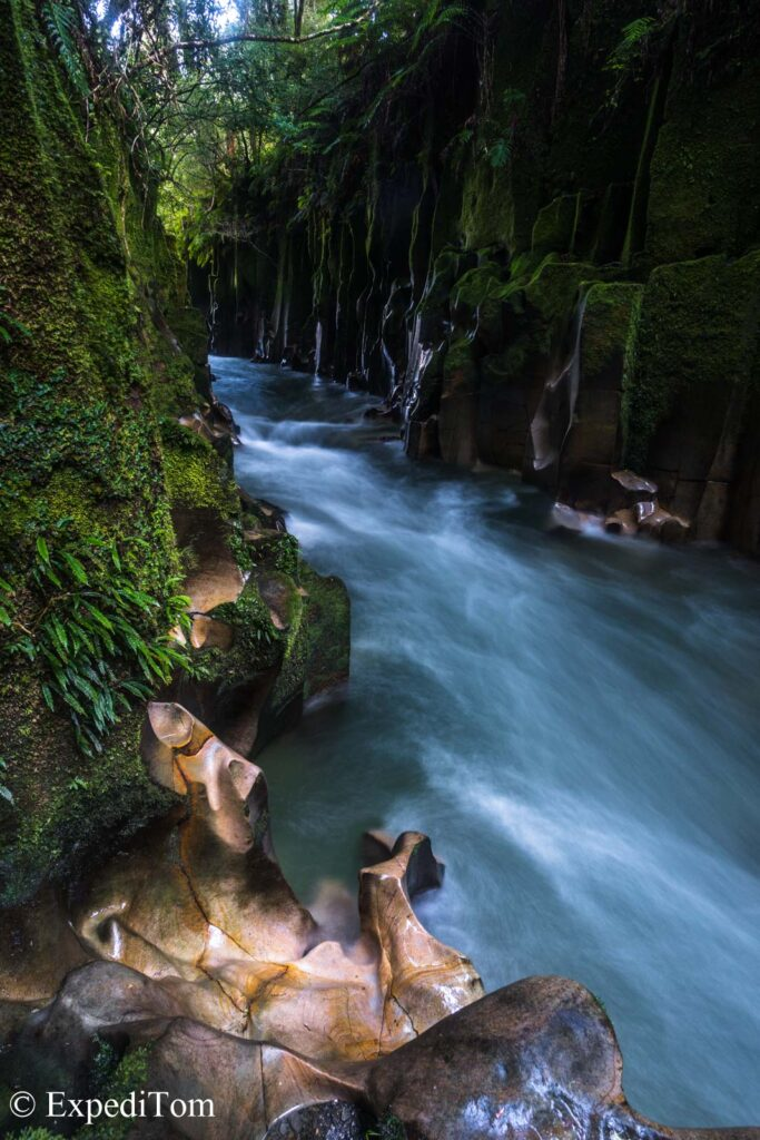 Most beautiful gorge in New Zealand: overwhelmed by shapes and colours in this gorge