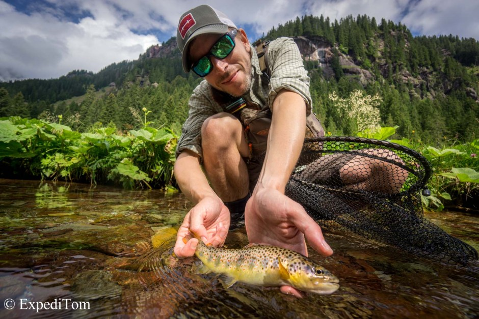Fly fishing expert and casting instructor André Abt taking you to the Engadin