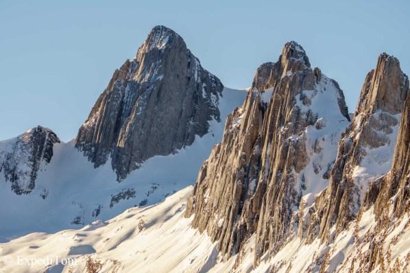 Granite peaks in Switzerland