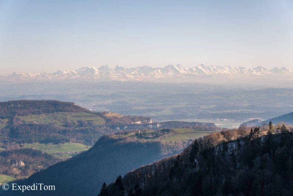 Swiss alps panorama views