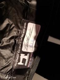 Signature on sleeping bag