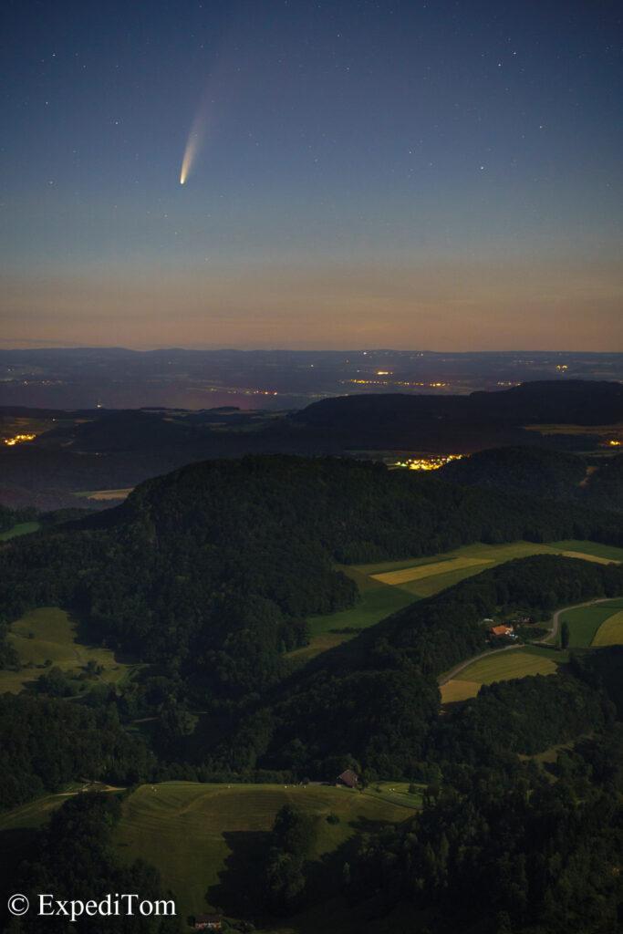 Comet Neowise Switzerland Sigma 56mm f/1.4 8s iso1000