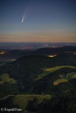 Comet Neowise Switzerland Sigma 56mm f/1.4