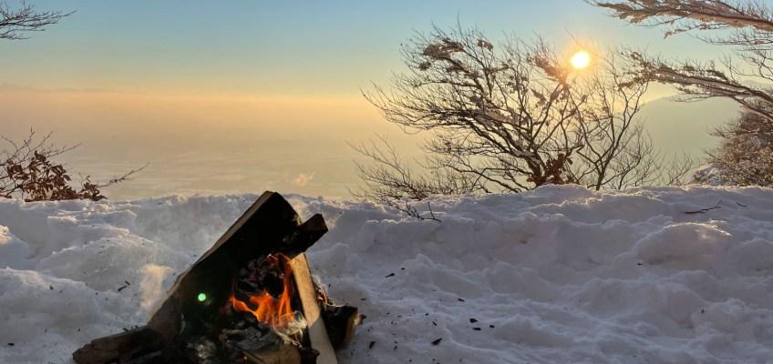 Fire on snow