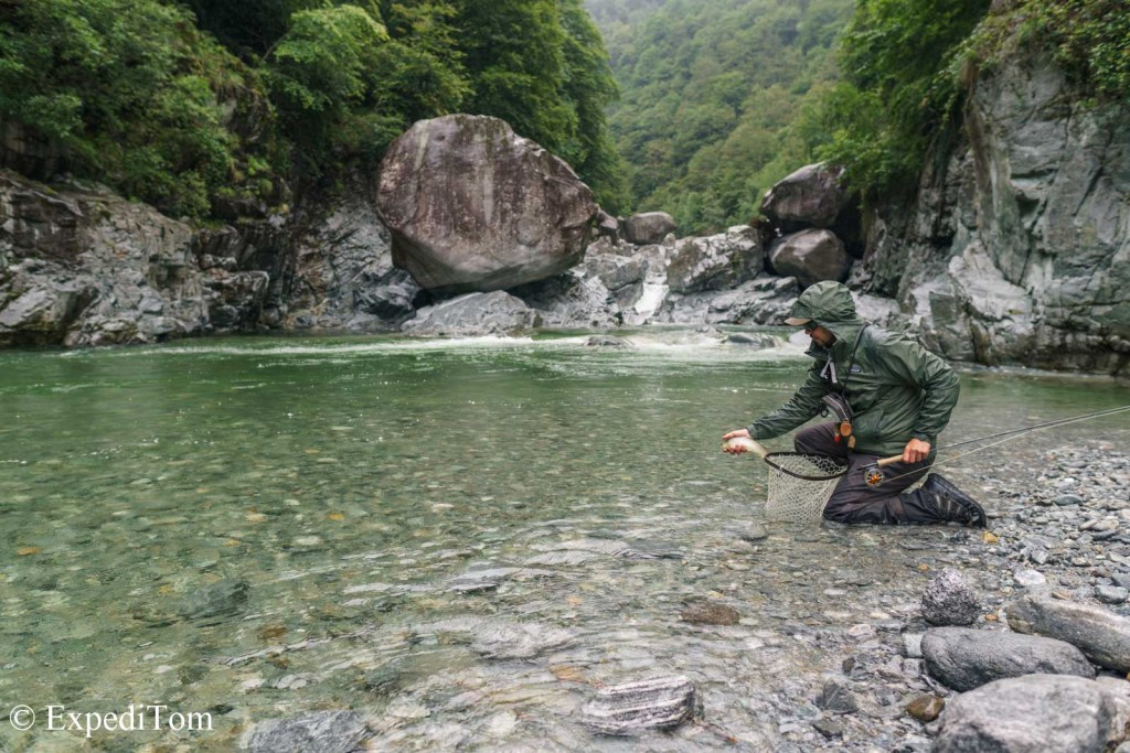 Fly Fishing Ticino in a remote valley in Switzerland