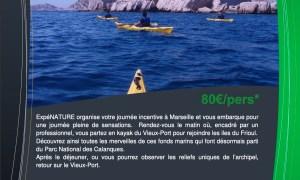 Journée Incentive Kayak Vieux Port Archipel du Frioul