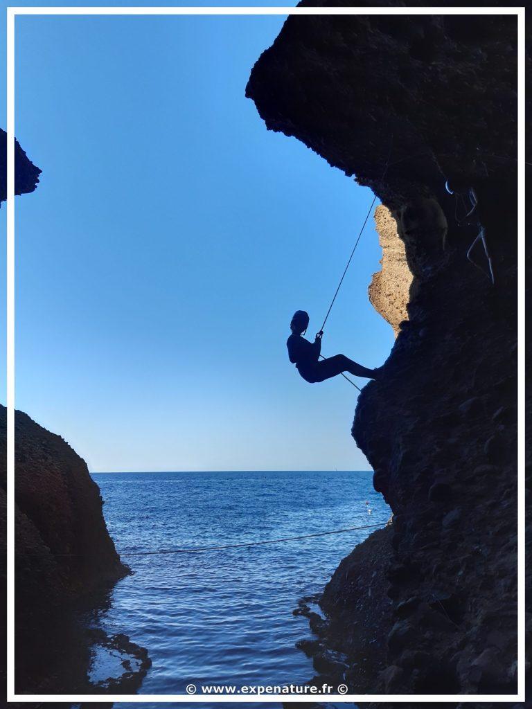 Canyon-sec-cassis-via Corda Calanques Marseille Tour du Bec Sormiou Morgiou Trou Souffleur