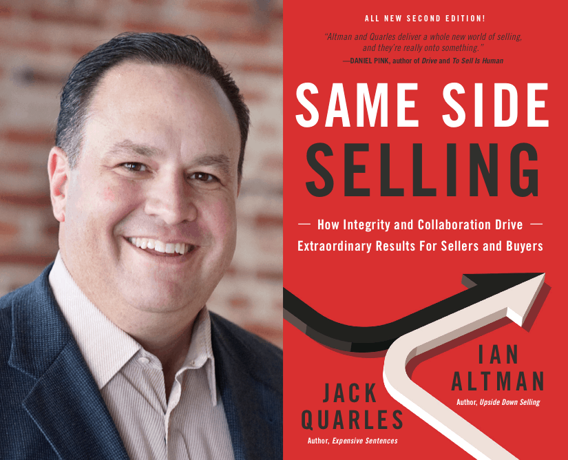 Ian Altman is the bestselling co-author of Same Side Selling. He also the developed the concepts behind The Same Side Selling Academy.