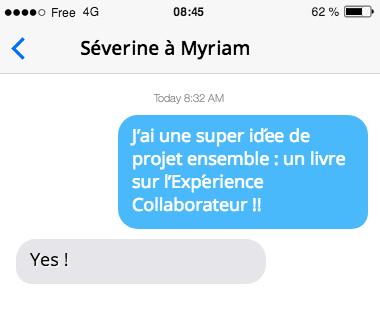 Message de lancement du projet de livre Experience Collaborateur par Séverine LOUREIRO