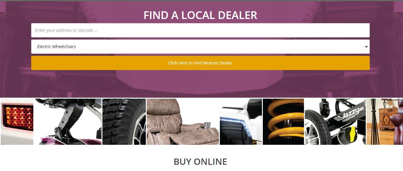 find a local or online dealer locator image of website