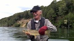 Rick with brown trout