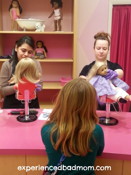American Girl Doll hair salon