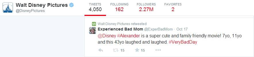 Walt Disney retweet