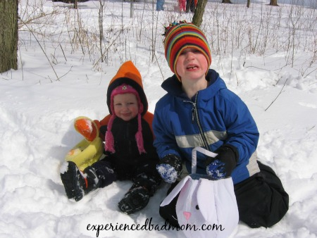 The joy of living in the Midwest - Easter egg hunts in the snow!