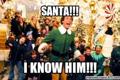 10 Funniest Quotes from Elf: Santa! I know him!