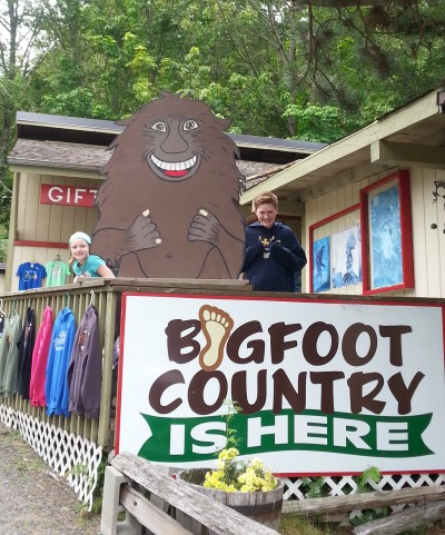 Seen and Unseen on our family vacation Bigfoot!