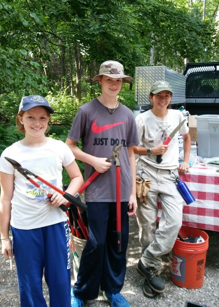 A summer highlight was volunteering with a local conservation group to cut down invasive species.