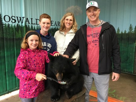 One of our summer highlights was visiting Oswald's Bear Ranch in Michigan's UP.