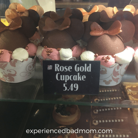 Try a Disney World Rose Gold Cupcake for your next sweet treat at Disney!