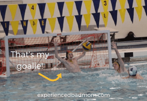 That's my water polo goalie. And here's how I learned how to feed a water polo team breakfast.