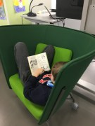 Cozied up in this comfy chair for some reading