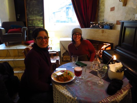 Mayra and Tiff at lunch