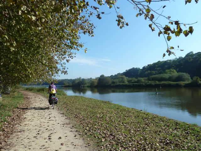 View along the bike path north of Dinan
