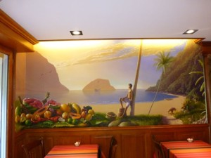 Breakfast room mural
