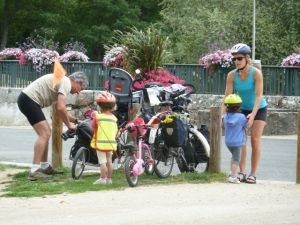 This area is perfect for family bicycling
