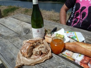 The perfect picnic lunch along the Loire