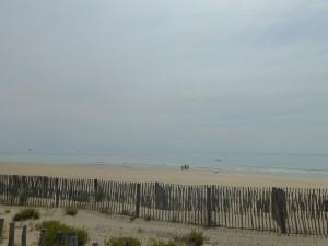 Miles of white sand beaches along bike path
