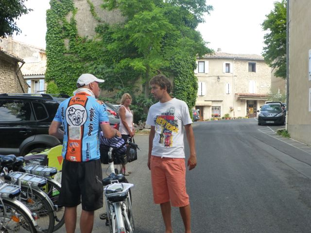 Just a few instructions from Florian and my husband was on his way!