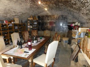 The cellar at the Wine B&B