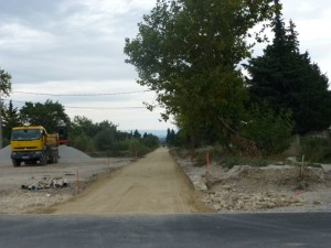Construction for the Via Venaissia near Sarrians